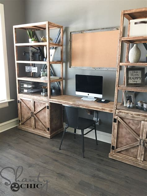 Diy Build A Desk Diy Floating Desk For Office Towers Shanty 2 Chic