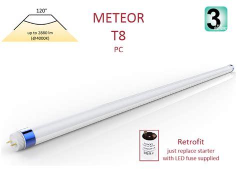 Lu Led T8 meteor led t8 pc retrofit for fluorescent
