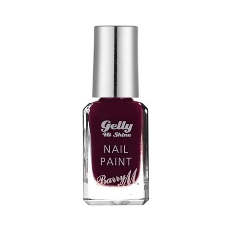 barry m gelly hi shine nail paint black cherry