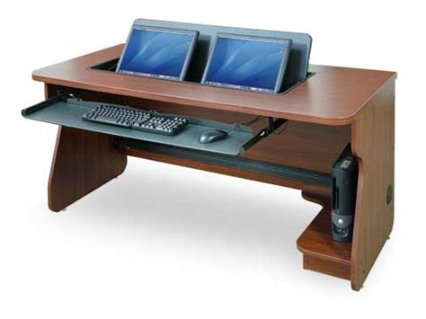 Computer Desk For Two Monitors Dual Monitor Desktop Computer Hp Furnitureplans