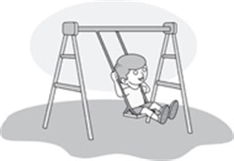 Swing Outline Exle by Free Gray And White School Outline Clipart Clip Pictures Graphics Illustrations
