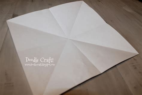 Folded Square Origami Paper - doodlecraft origami present box