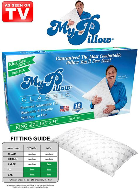 i my pillow king size my pillow 174 king size firm amerimark
