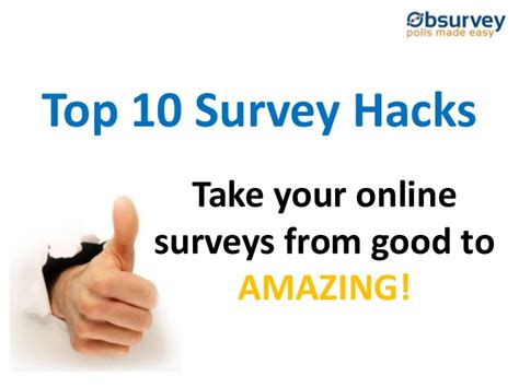 Top Online Surveys - top 10 online survey hacks take your surveys from good