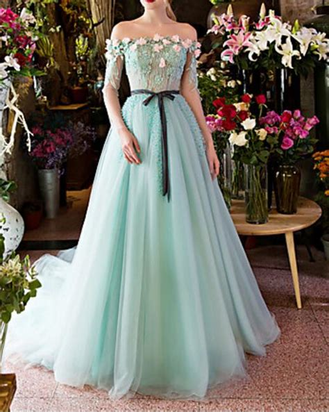 boat neck dress wedding guest romantic light blue wedding dresses 2017 boat neck long