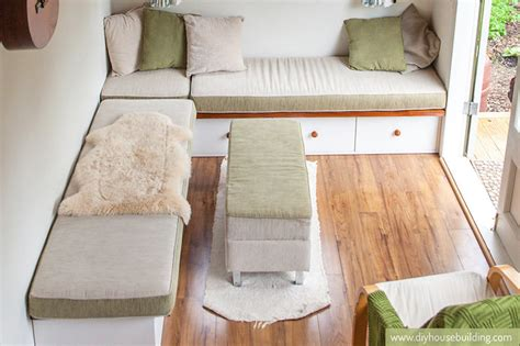 built in couch plans use these tiny house plans to build a beautiful tiny house