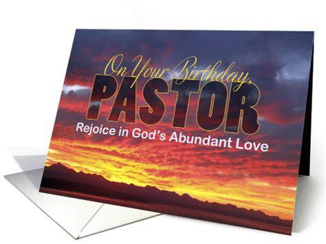 Pastor  Ee  Birthday Ee   Sunset Card