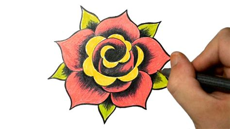 simple rose tattoo design rose drawing simple drawing arts sketch