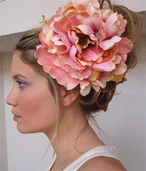 flower hair the chateauroux large flower hair clip in pink by mandizzle