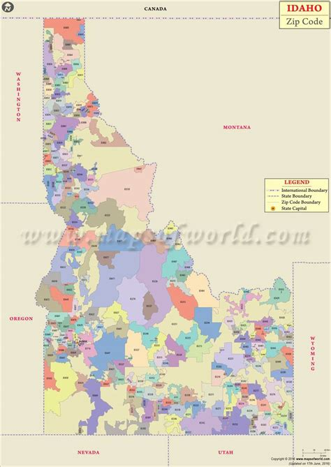 idaho map usa idaho zip codes list counties and cities