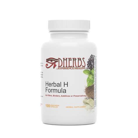 Dherbs Detox Ingredients by Dherbs Herbal H Formula 100 Count Bottle