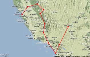 california map road trip