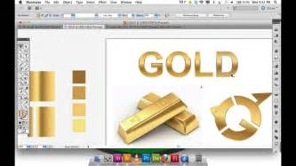 how to make the color gold adobe illustrator gradient gold text logo