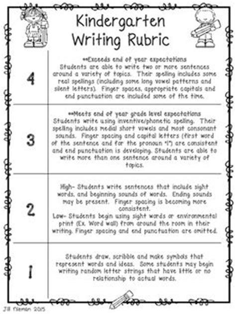 Writing Report Cards For Kindergarten by Best 10 Kindergarten Writing Rubric Ideas On Writing Checklist Grade Writing