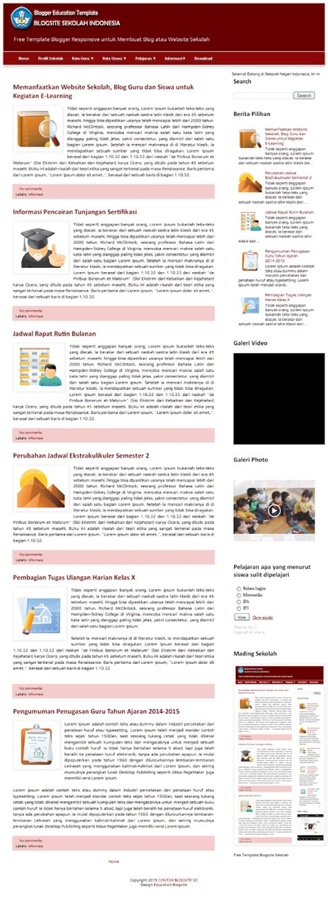 blog kita template sekolah blogspot