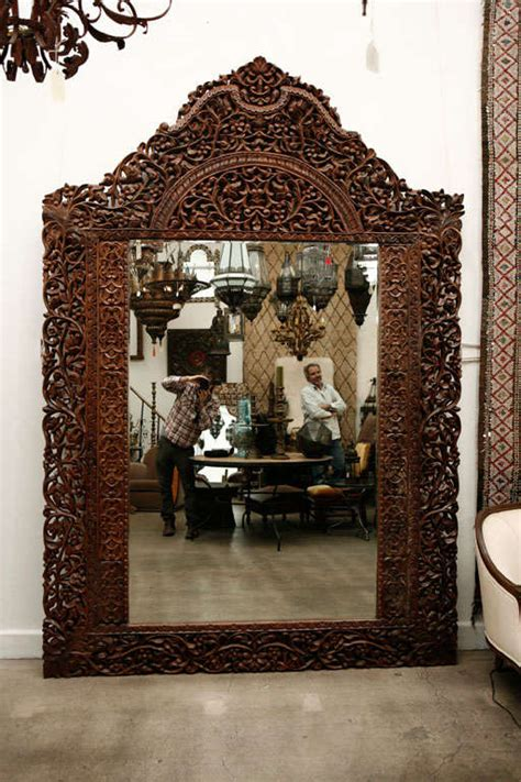 mirror 9 8 giant hand carved anglo indian at 1stdibs