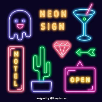 Neon Vectors Photos And Psd Files Free Download Neon Sign Template
