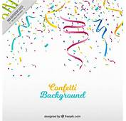 Party Background With Streamer And Colored Confetti Vector