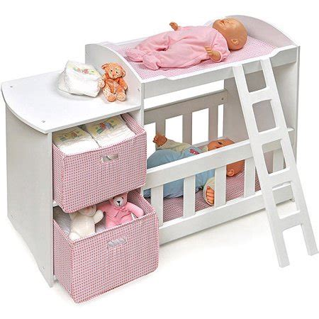 baby alive changing table badger basket doll crib and changing station with 2