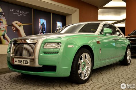 roll royce green rolls royce ghost prince of time 12 may 2015 autogespot