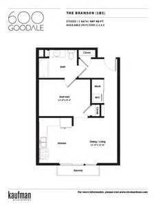 Home Plan Design 550 Sq Ft by Downtown Columbus Apartments 600 Goodale Kaufman