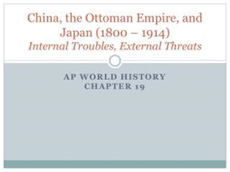 what problems faced the ottoman empire in the 1800s ppt internal troubles external threats powerpoint