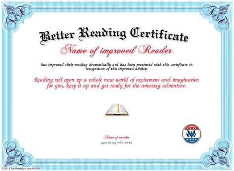 template for reading award certificate 1000 images about teachers certificate templates on