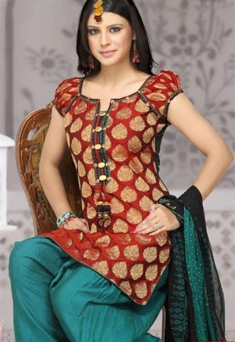 kurti stitching pattern latest stylish brown color polka printed kurti latest