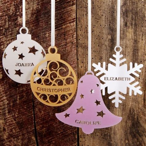 personalised christmas tree decoration urban twist