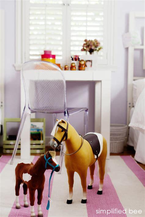 girls horse bedroom american girl doll horse girls room simplified bee
