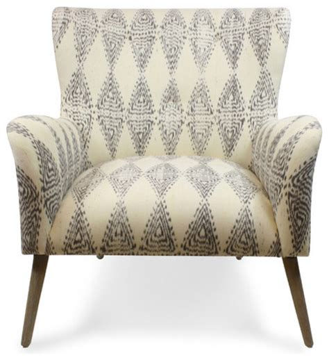 ikat armchair gray ikat chair contemporary armchairs and accent