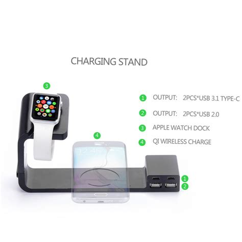 apple qi charging itian a12 qi wireless charger for apple watch iphone