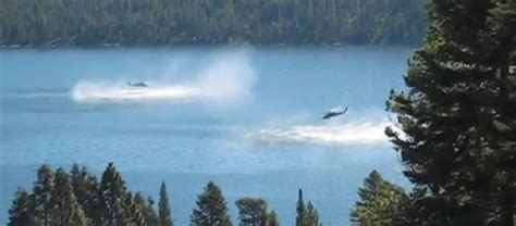 video: helicopter dips into lake   coast to coast am