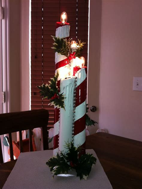 pvc decorations candles made out of pvc pipe so pretty