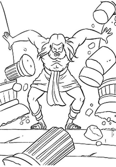 Samson Bible Story Coloring Pages samson and coloring pages coloring home