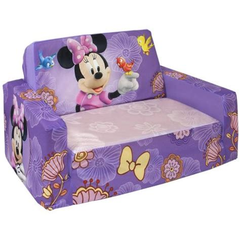 minnie sofa marshmallow flip open sofa with slumber disney s minnie
