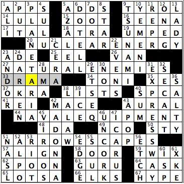 usa today crossword feb 13 2015 saturday february 14 2015