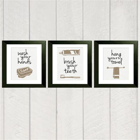 bathroom art work bathroom art print set of 3