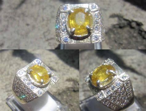 Cincin Yellow Sapphire Ah 50 gudang batu permata mulia batu mulia yellow sapphire