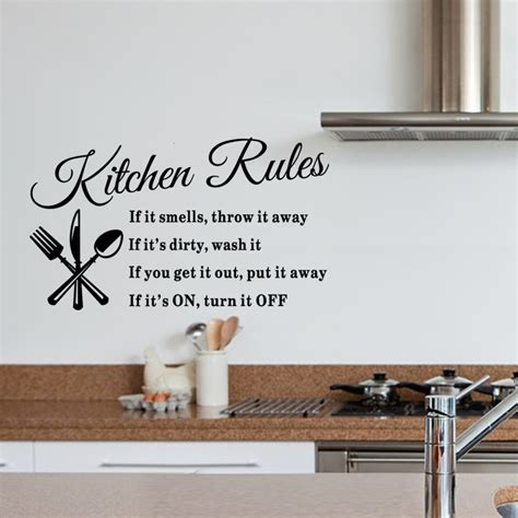 removable wall stickers creative our kitchen alphabet black diy