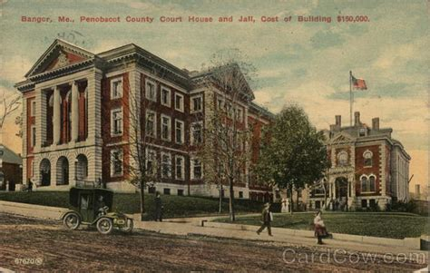 Penobscot County Court Records Penobscot County Court House And Bangor Me Postcard
