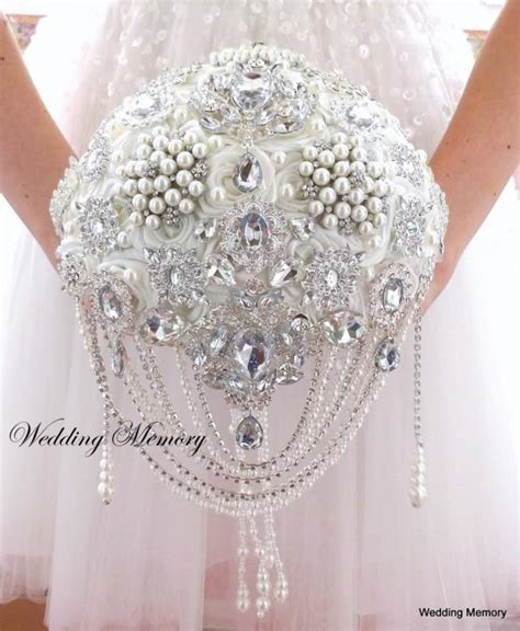 Wedding Bouquet Bling by Jeweled Brooch Bouquet Wedding Bouquet Brooch Bouquet