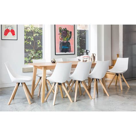Dining Tables 8 Chairs Outandoutoriginal Sebastian Dining Table And 8 Chairs Wayfair Uk