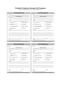 printable pad template telephone message pads template hashdoc