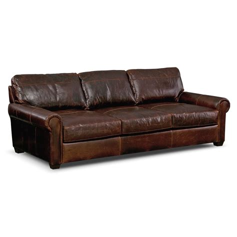 Burnham Leather Sofa Value City Furniture Quot Knock