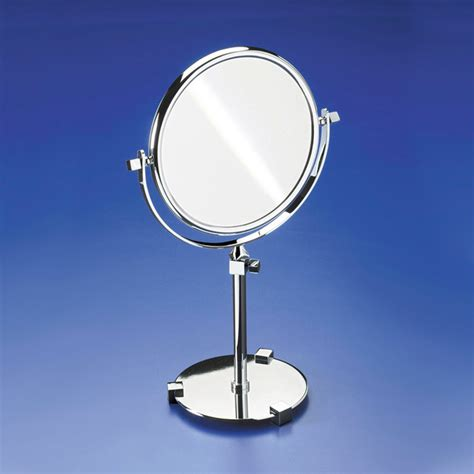 bathroom magnifying mirrors pedestal double face 3x gold magnifying mirror
