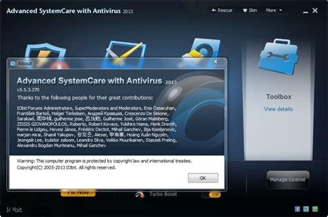 bagas31 antivirus advanced systemcare with antivirus 2013 full serial