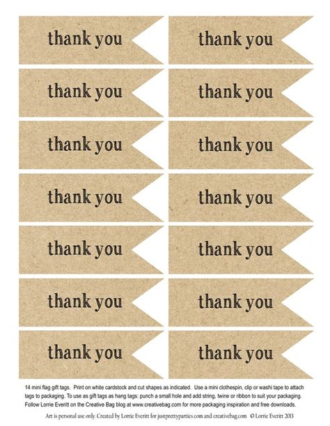 printable thank you tags pinterest the creative bag blog wedding favors using candy bags and