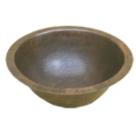 round sink bowl oval hammered round 17 quot sink bowl