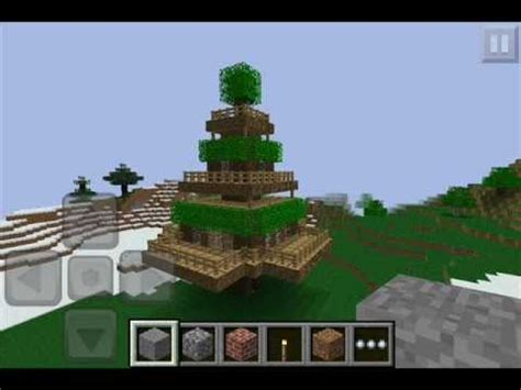 how to make a cool treehouse in minecraft minecraft p e awesome tree house
